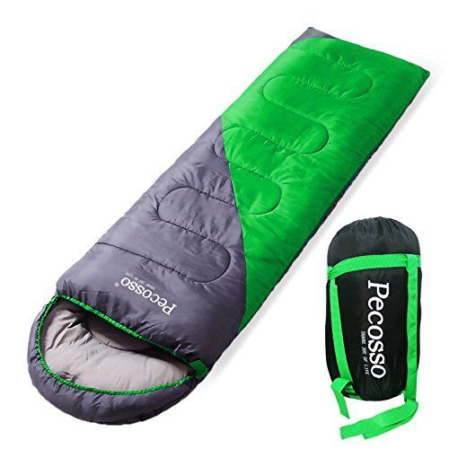 Pecosso Ultralight Sleeping Bag : Outdoor Warming Compression Sack - Comfort, Lightweight, Waterproof, 3-4 Season Packable Bag for Camping, Travel, Backpacking, Hiking Fit Kid/Men/Women (Green). For product info go to:  https://all4hiking.com/products/pecosso-ultralight-sleeping-bag-outdoor-warming-compression-sack-comfort-lightweight-waterproof-3-4-season-packable-bag-for-camping-travel-backpacking-hiking-fit-kidmenwomen-green/