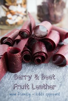 Berry & Beet Fruit Leather - Quick & easy, healthy snack! Simple for moms to make & kiddos give it 2 thumbs up! - Eat Your Beets