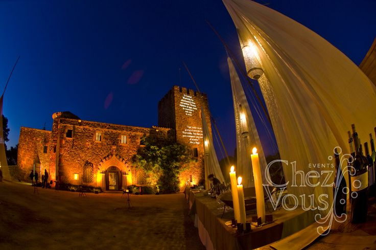 Stunning castle venue which is enhanced with custom decoration by Chez Vous Events. Get in touch to plan your dream event on the Costa Del Sol or in Gibraltar.