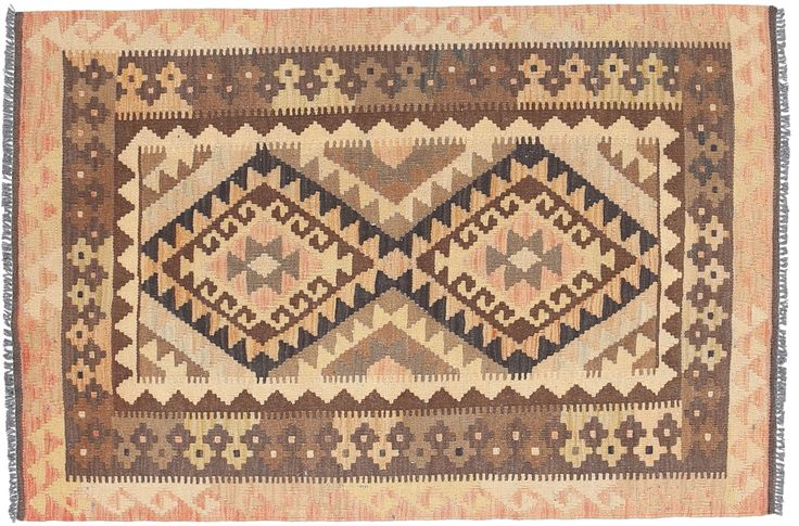 Kelim Afghan Old style 91x138 - CarpetVista
