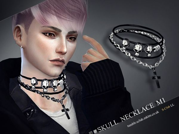 Necklace M01 by S-Club LL at TSR • Sims 4 Updates