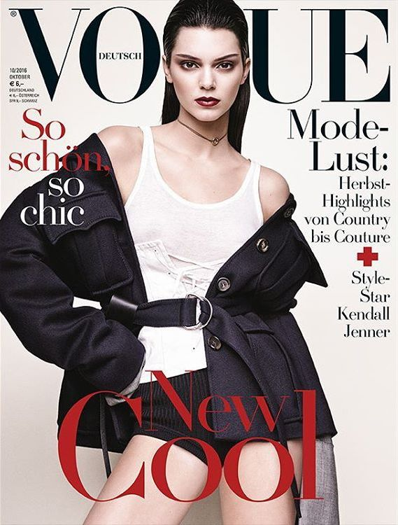 Kendall Jenner by Luigi & Iango for Vogue Germany October 2016 Cover