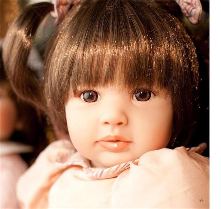 60 см Силиконовые Винил Возрождается Кукла Игрушки для Девочек Brinquedos Реалистичные Принцесса Играть Дома Куклы Рождественские Подарки купить на AliExpress