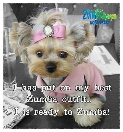 Zumba can't wait for monday