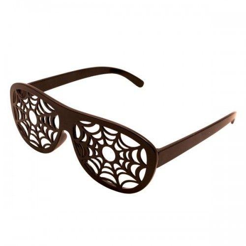 Party Glasses Spider Web Black