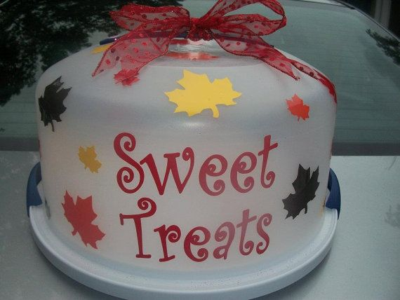 Fall Personalized Cake Carrier & 10 best Personalized Cake Carriers images on Pinterest | Cake ...