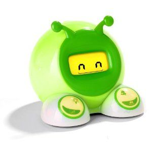 Alarm clock turns green when the kiddos can come see mom and dad in the morning!