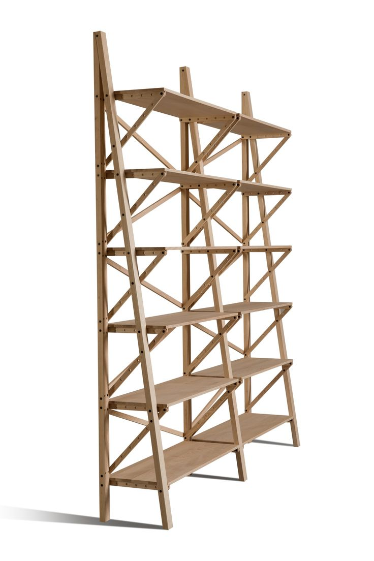 """BALOCCO, modular bookcase in solid ash wood. Winning project at the 2011 edition of the """"significant furniture"""" competition. by Giuseppe Di Serafino"""
