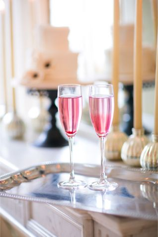 Pink drinks for two | One and Only Paris Photography | http://burnettsboards.com/2013/12/candlelit-parisian-elopement/