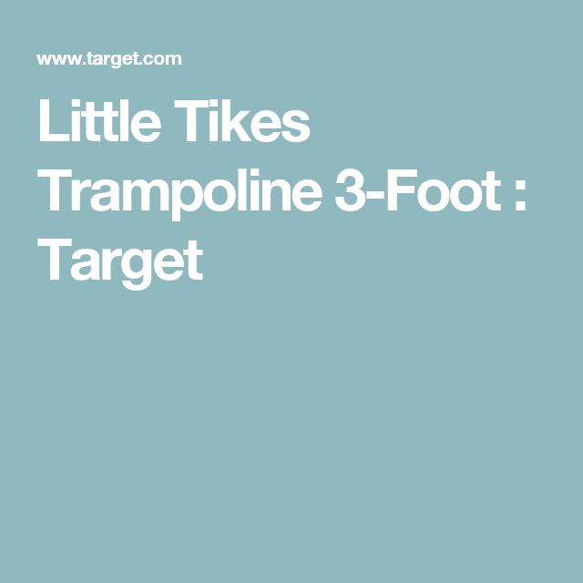 Little Tikes Trampoline 3-Foot : Target