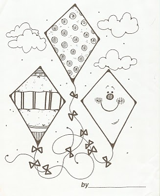 29 best images about Kite Coloring Pages on Pinterest  Coloring