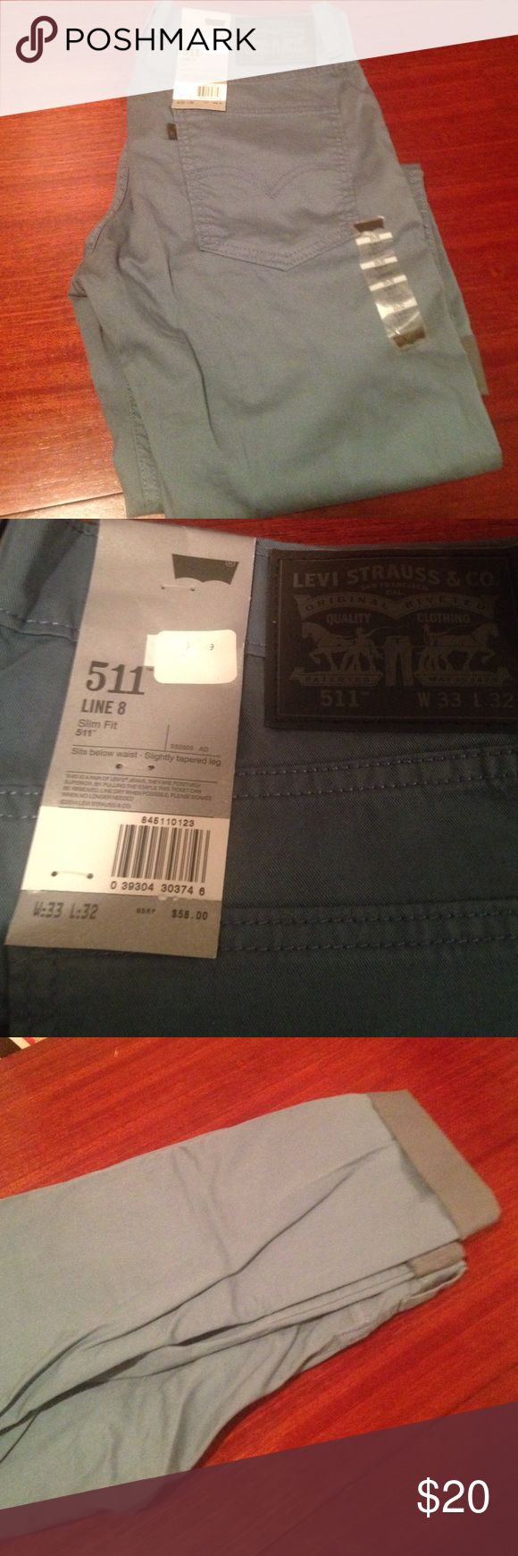 Men's Levi's 511 pants Sz 33/32 brand new! Levi's Pants Chinos & Khakis