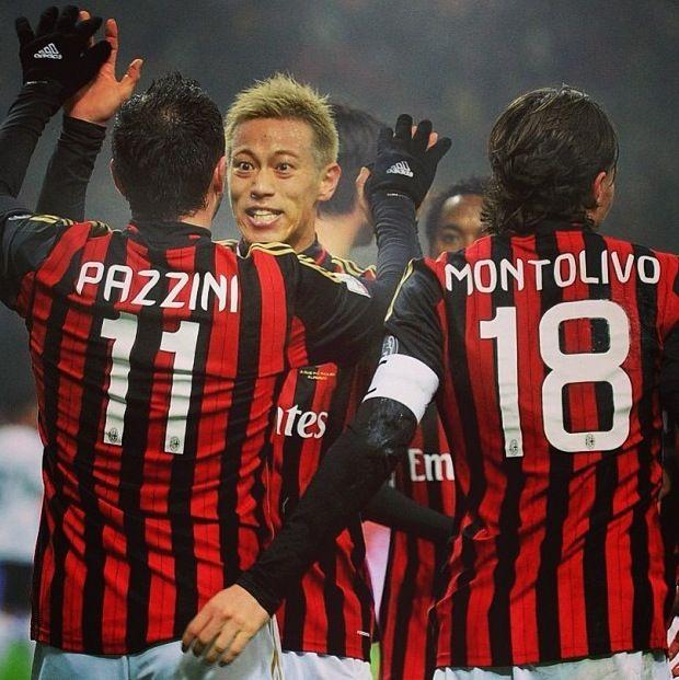 Pazzini, Montolivo and Honda AC Milan