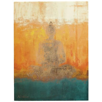 Love this! Would look perfect over our couch!! ...Sunset Buddha Art - pier 1 imports