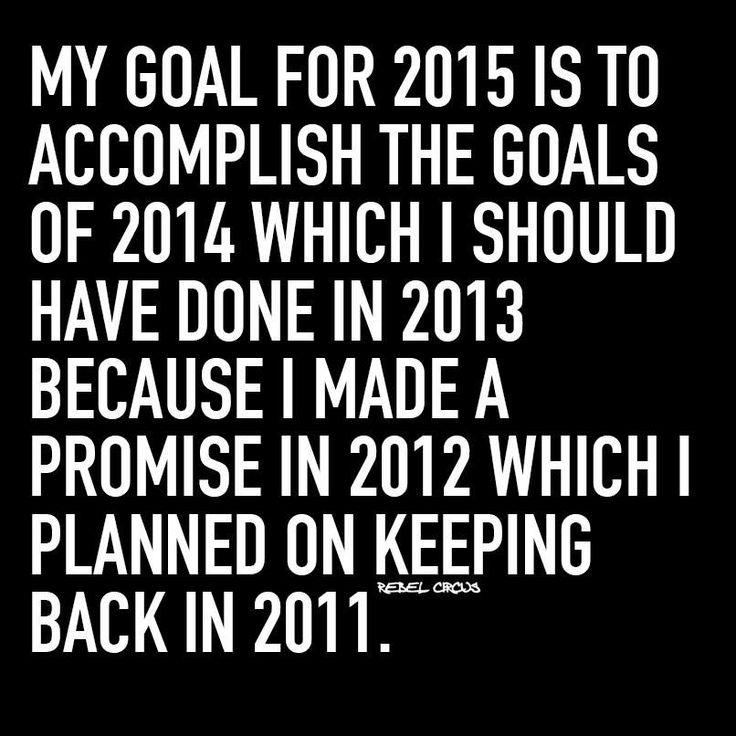 My goals..
