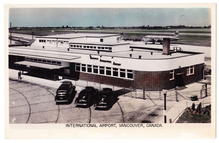 BC – VANCOUVER, Vancouver International Airport, Douglas DC-4 c.1951-1953 RPPC