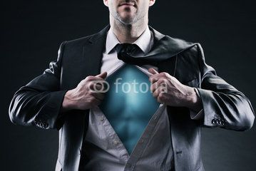 Superhero businessman