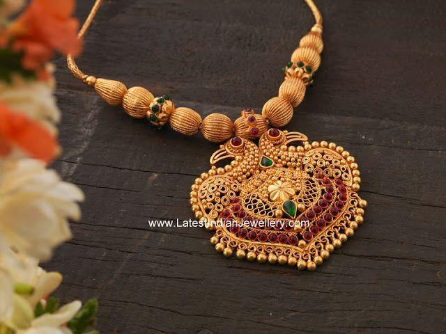 Gandaberunda Pendant Gold Necklace