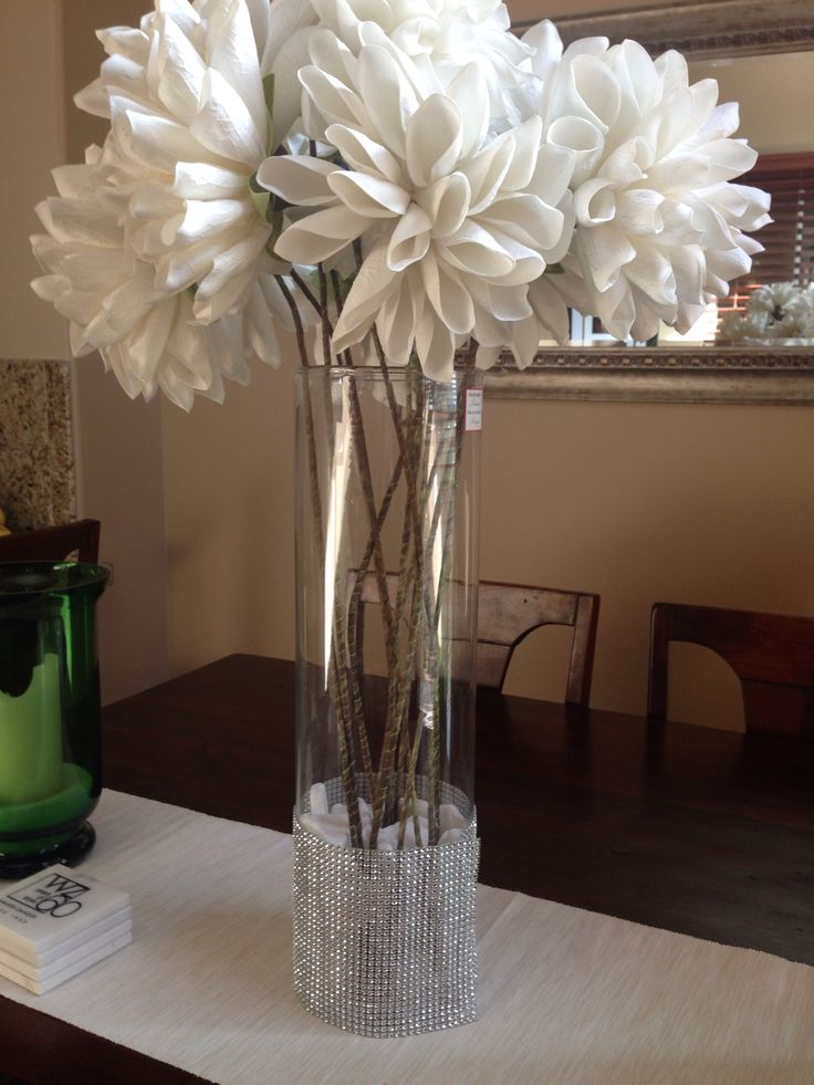 Dining table centerpiece i made for the home for Casual dining table centerpiece ideas
