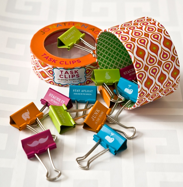 Task Clips By Jonathan Adler Stationery How Cute Are These
