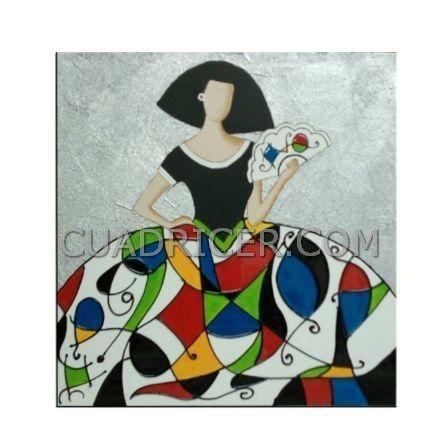 cuadro meninas colores Miró 275 , decoración original y personal de tu casa
