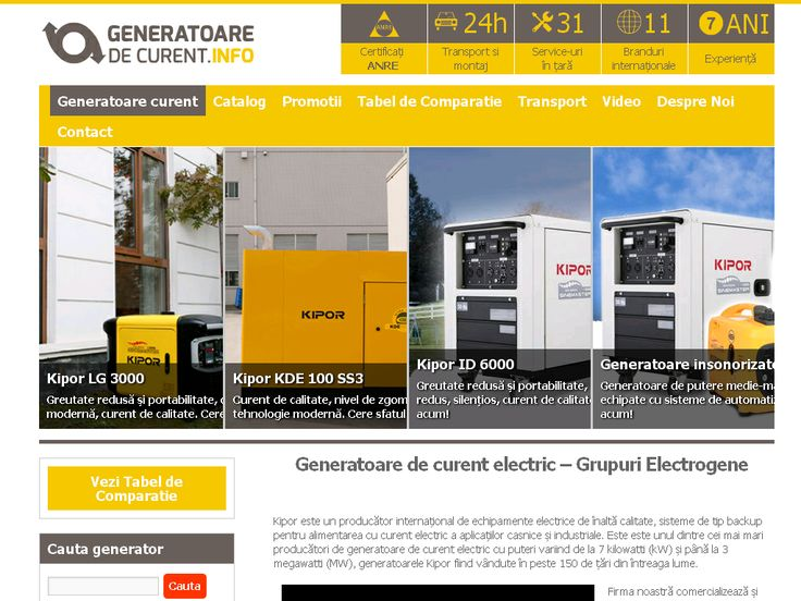 screenshot of www.generatoaredecurent.info/