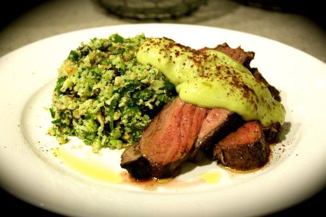 Sumac Lamb with Broccoli, Cranberry