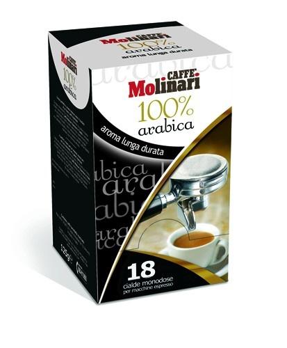 Molinari 100% Arabica Pod, 18db
