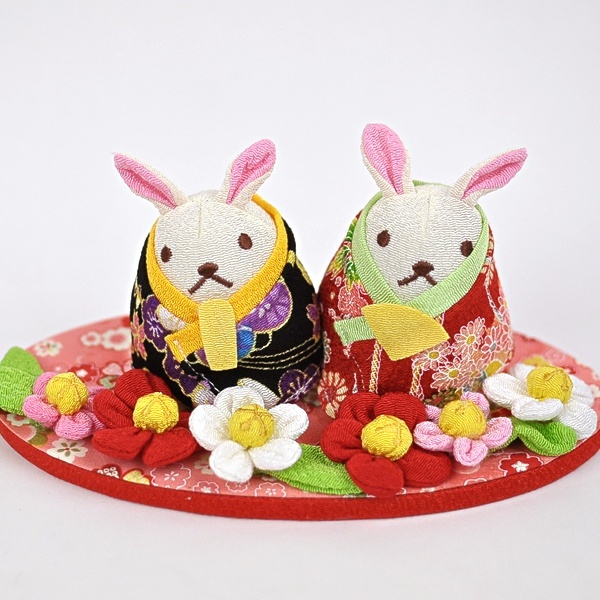 Rakuten: Crape work rabbit doll Doll's Festival decoration sum miscellaneous goods crepe Doll's Festival japan decoration chirimen - Shopping Japanese products from Japan