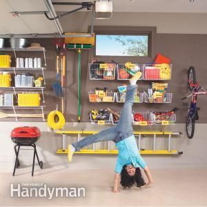How to Organize Your Garage in One Morning. Maximize your garage storage space quickly and easily with simple and inexpensive shelves, baskets and hooks.