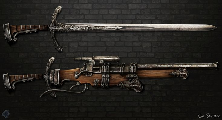 ArtStation - Chester's Claymore Rifle, Cal Santiago
