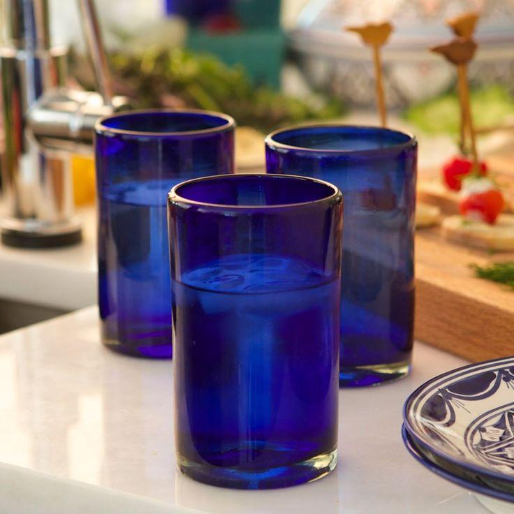 My Handblown Cobalt Blue Glasses