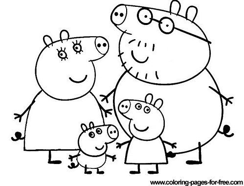 peppa pig coloring pages drawing picture 31 - Peppa Pig Coloring Pages Kids