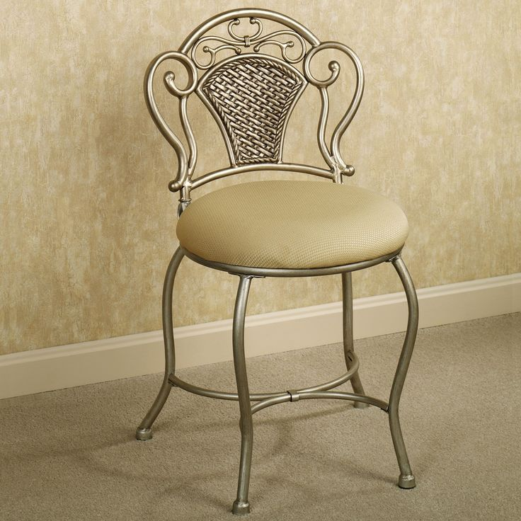 25 best ideas about vanity chairs on pinterest anthropology home classic chairs and mirrored - Vanity chair on wheels ...