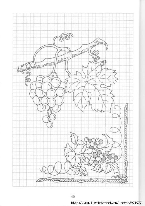 Gallery.ru / Фото #66 - Рисунки для вышивки гладью, лентами и ришелье-3 - Vladikana