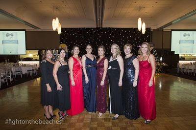 Fight on the Beaches Executive Committee (L to R): Rebecca Coulson, Lisa Routledge, Carol Chaffer, Colleen Camelin, Michelle Heaton-Armstrong, Meghann Parker, Stacey Mitchell, Danielle Hobbs