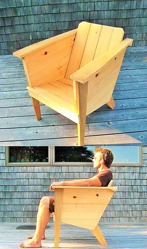old pallet chair idea diyfurniturepallets diy furniture in 2019 rh in pinterest com