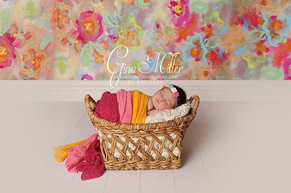Adorable Rose Flower Headband, Yellow, Pink, Green, White Flowers On Skinny Headband
