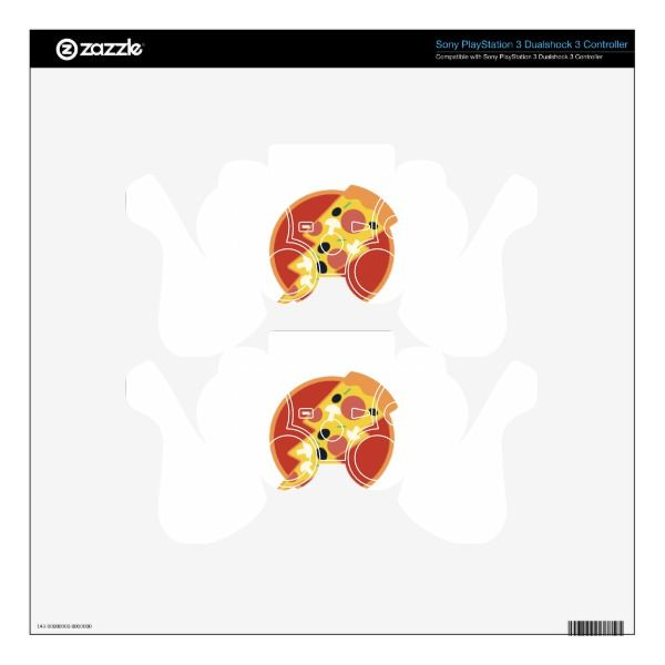 Flash Pizza Skin For PS3 Controller Custom Brandable Electronics Gifts for your buniness #electronics #logo #brand