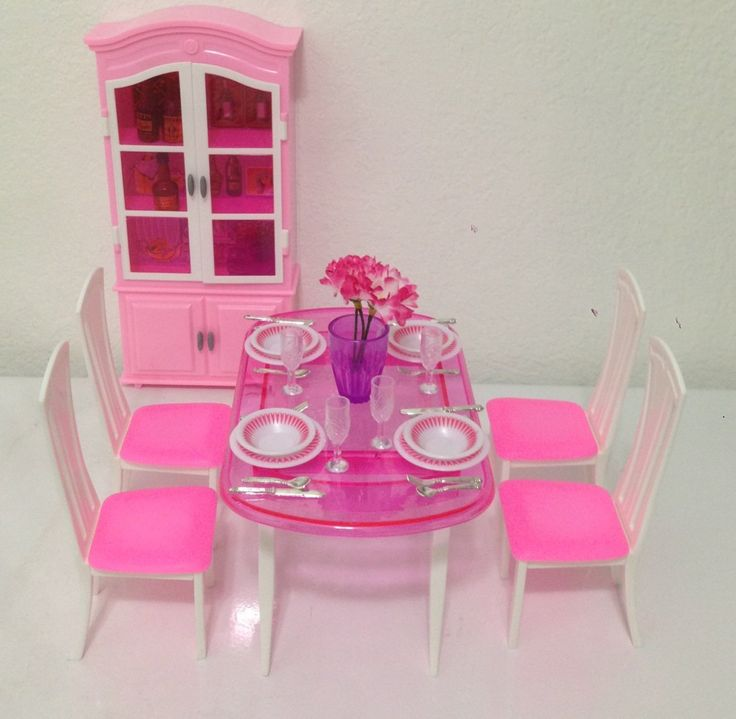Amazoncom Barbie Size Dollhouse Furniture Dinning Room