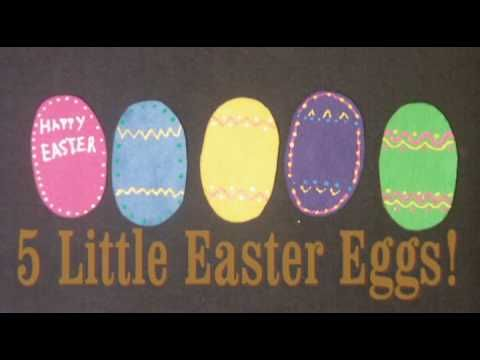 Preschool songs for Easter - 5 Little Easter Eggs - Littlestorybug