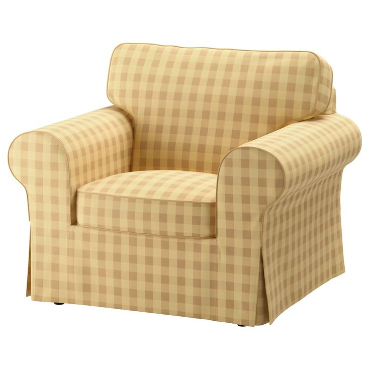 IKEA - EKTORP Armchair cover Skaftarp yellow