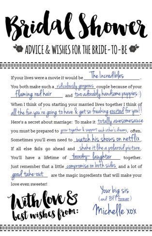 These Printable Bridal Shower Advice Cards are so fun! And it's a free download…