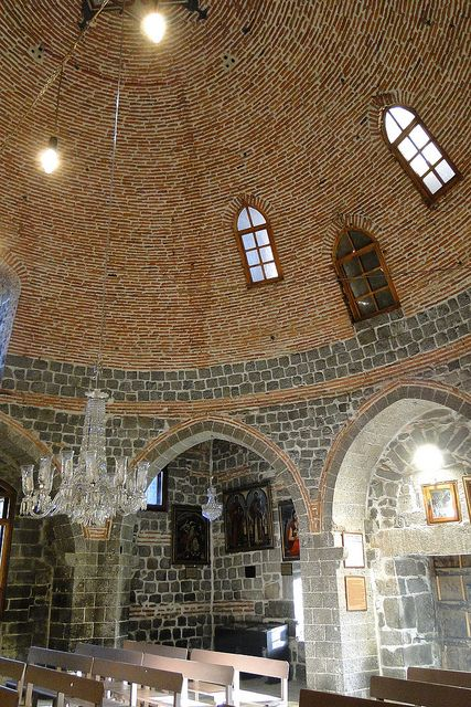 Interior of Meryem Ana Kilisesi - Church of the Virgin Mary - Diyarbakir - Turkey
