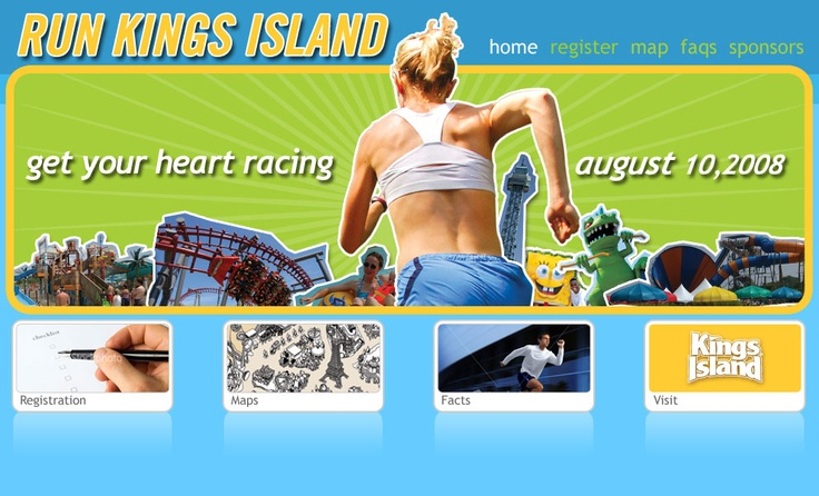 Run Kings Island Microsite