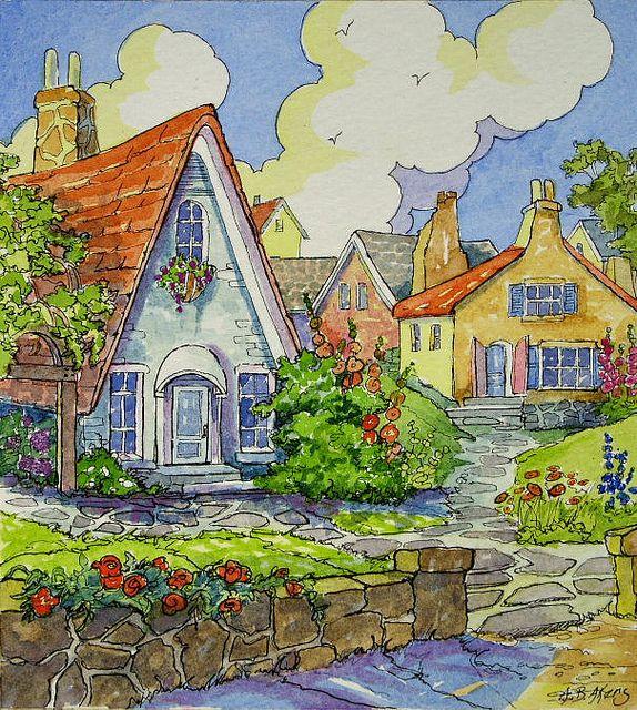 Storybook Cottage Series The Gardener's Village | Flickr - Alida Akers