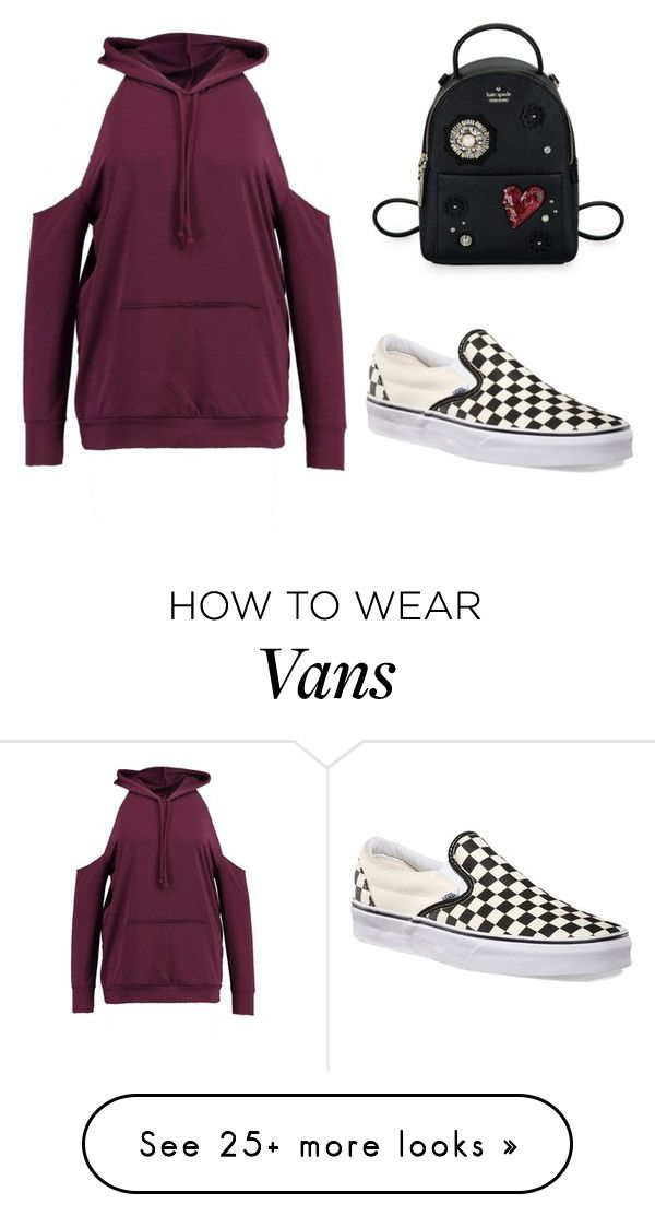 """Untitled #1374"" by shealin on Polyvore featuring Kate Spade, Boohoo and Vans"