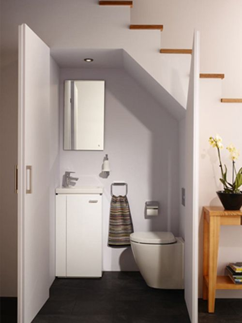 Compact solutions bathroom bathroom downstairs toilet bathroom under stairs - Bagno piccolissimo misure ...