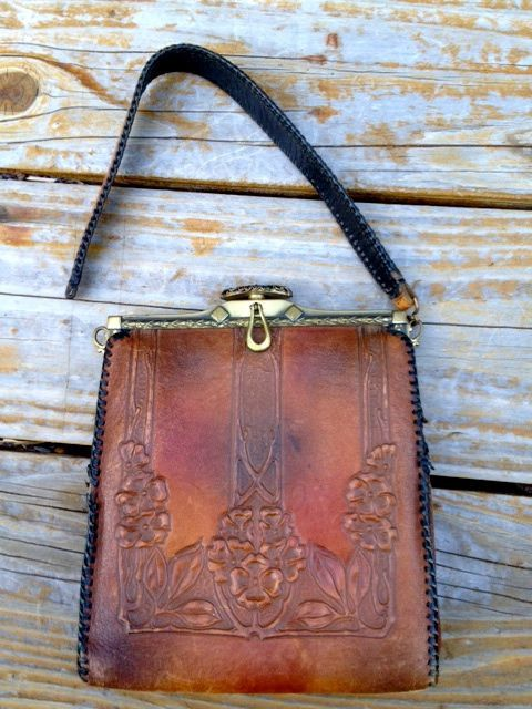 Arts And Crafts Leather Purse