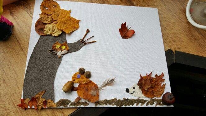 Herfst canvas uit de natuur